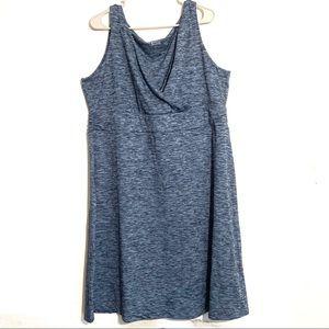 Eddie Bauer Dresses - Plus Size Eddie Bauer Marled Blue Active Dress